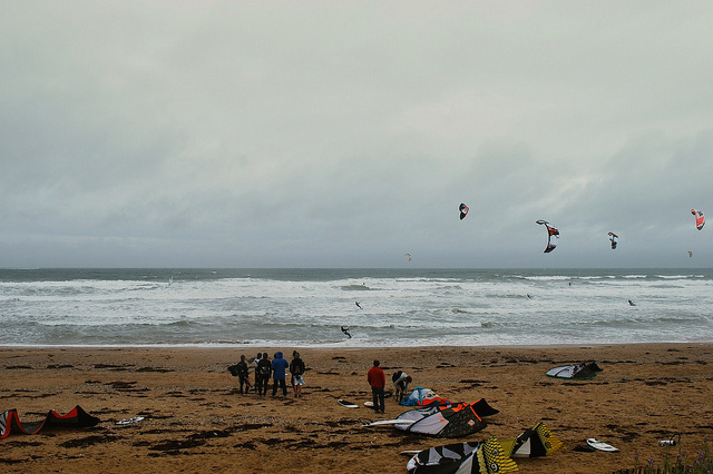 Kitesurfing At Quiberon Beach