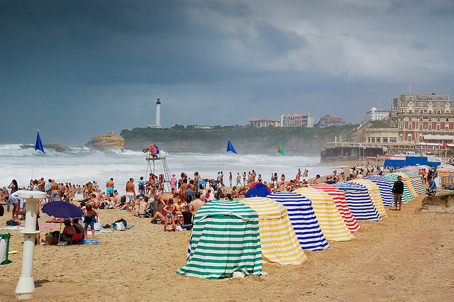 Windsurfing at Biarritz Beach