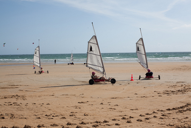 Windsurfing On Beach