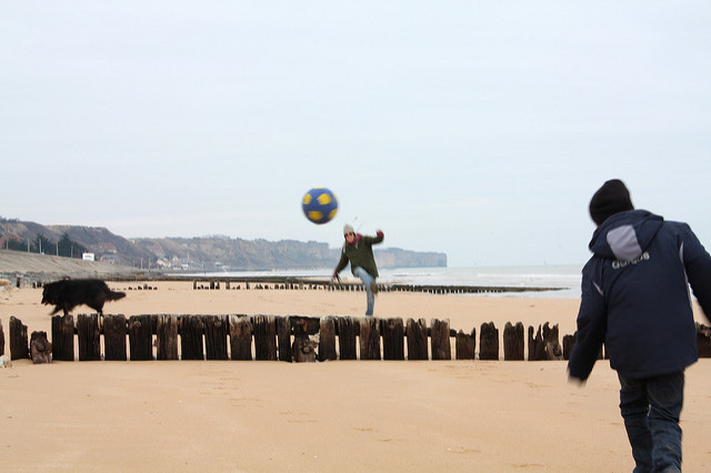 Beach Ball at Omaha Beach