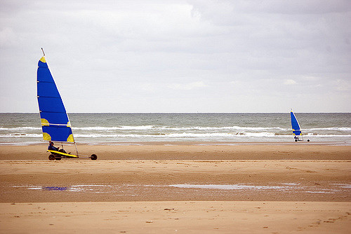 Windsurfing at Omaha Beach