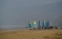 Windsurfers at Omaha Beach